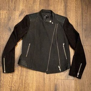 Wool faux leather Moro jacket